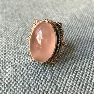 Jewelry - Rose Quartz Oval Cabochon Ring